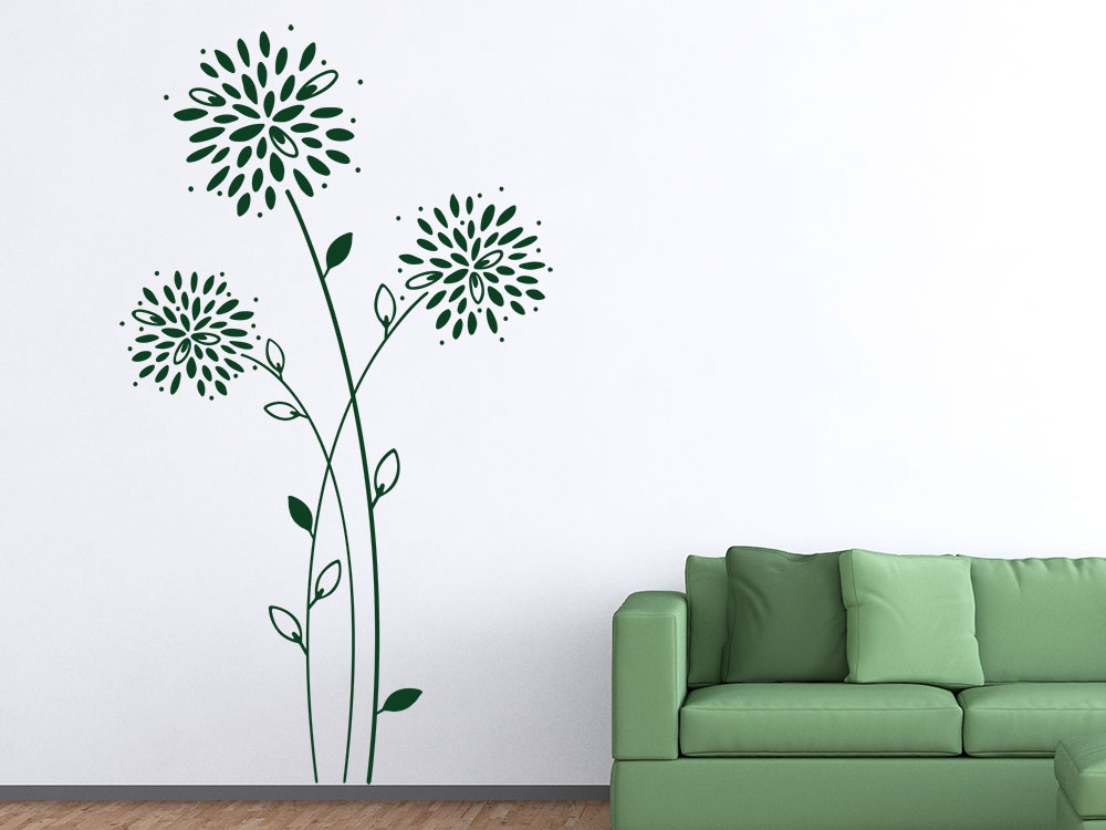 Wandtattoo Moderne Astern | Pflanze | KLEBEHELD®.de