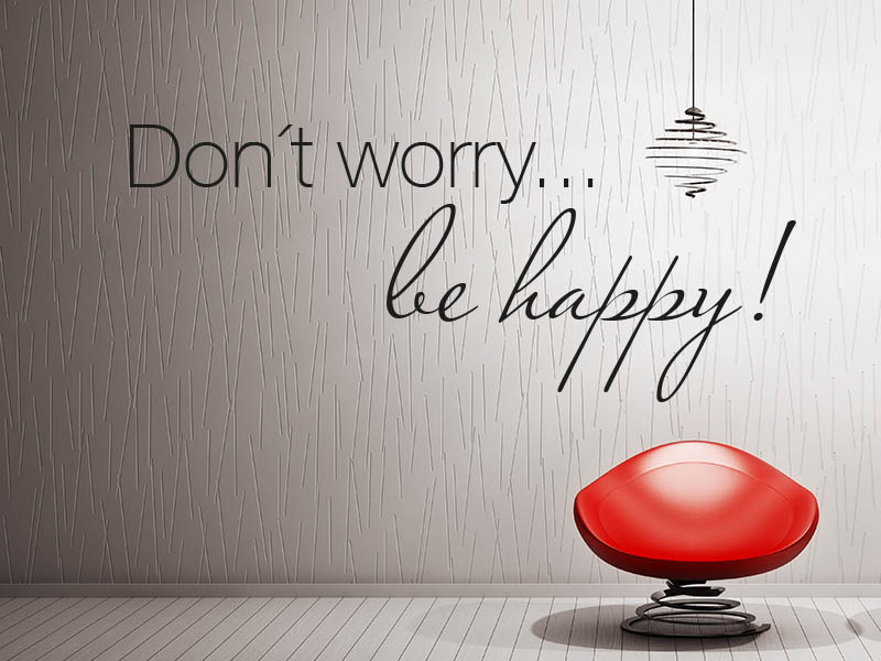 Wandtattoo Spruch Don´t worry be happy