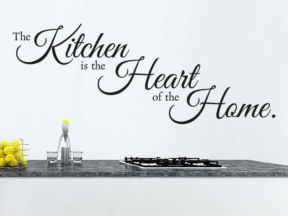 Wandtattoo The kitchen is the heart of the home