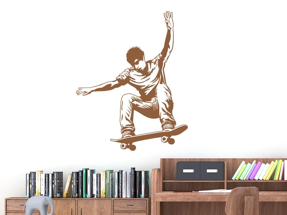 Wandtattoo Skater mit Skateboard