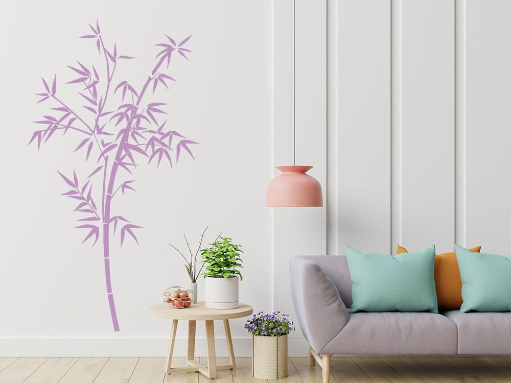 Wandtattoo Bambus im Wohnzimmer