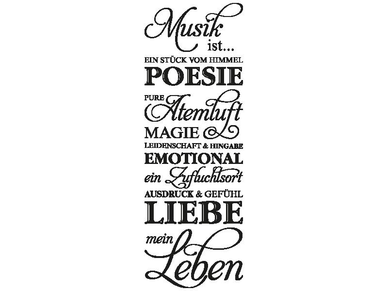 sprüche musik ist mein leben Wandtattoo Musik ist meine Leben   Klebeheld.de sprüche musik ist mein leben