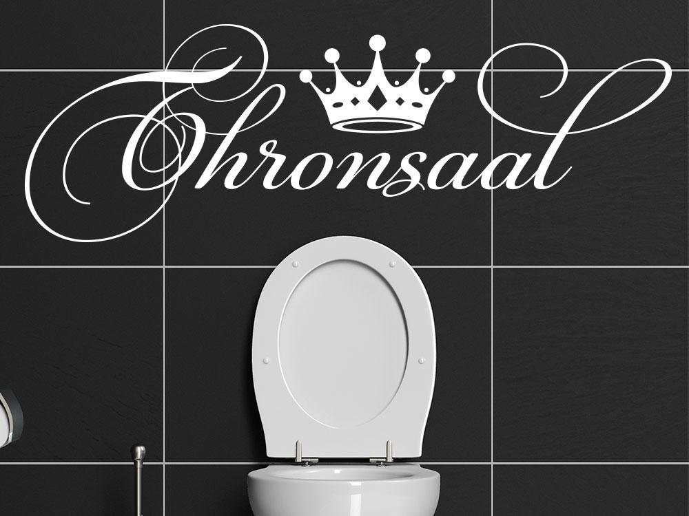 Wandtattoo Thronsaal im Badezimmer