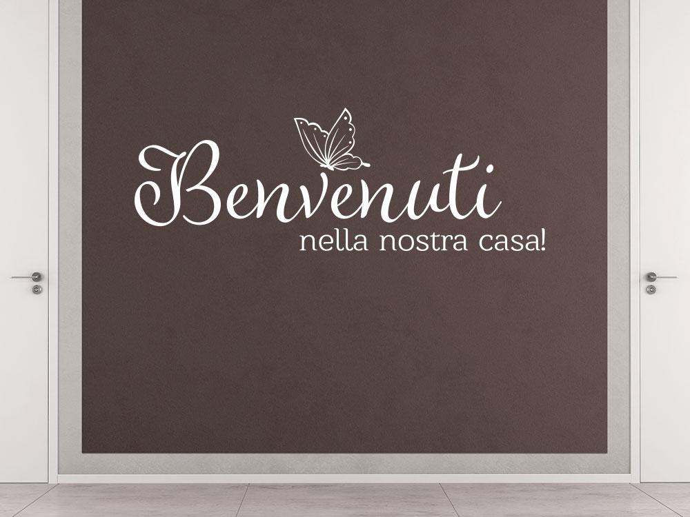 Wandtattoo Benvenuti nella nostra casa! Italienische Begrüßung im Flur