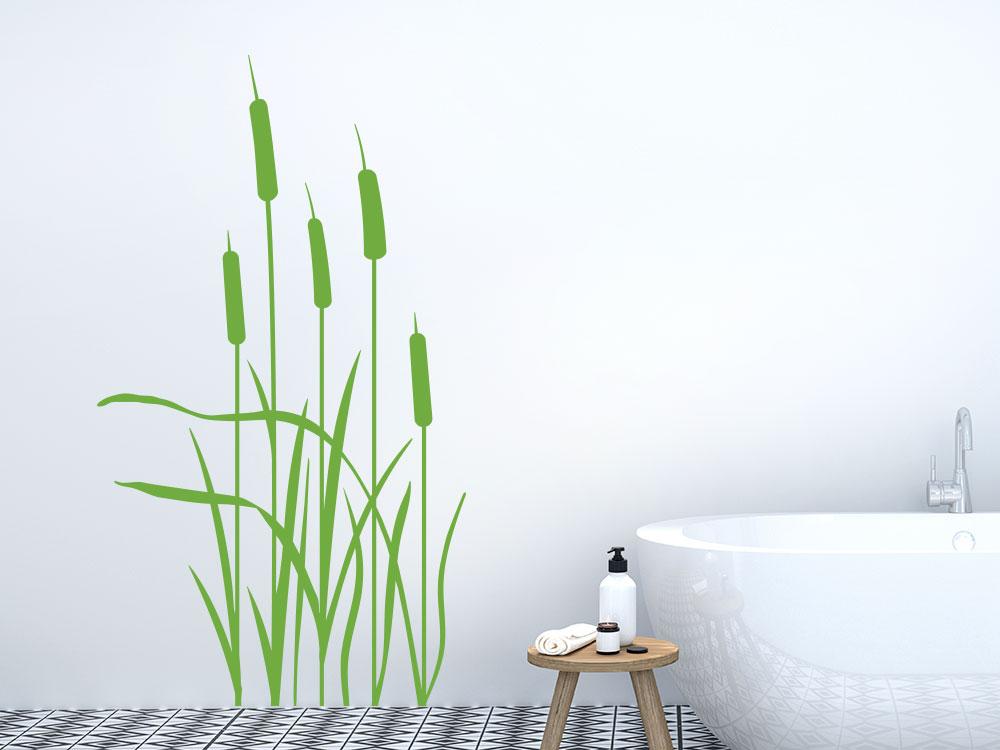 Wandtattoo Schilf im Badezimmer
