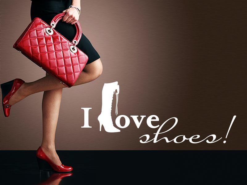 Wandtattoo I Love shoes