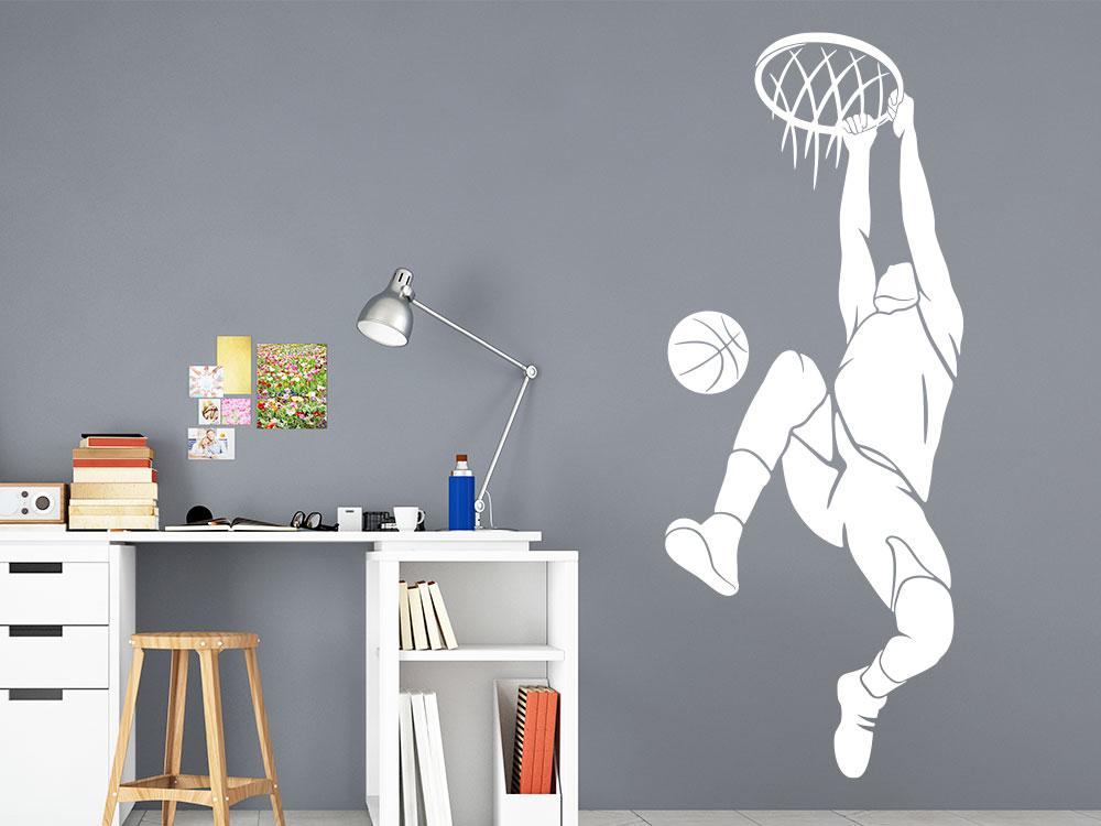 Wandtattoo Basketball Dunking