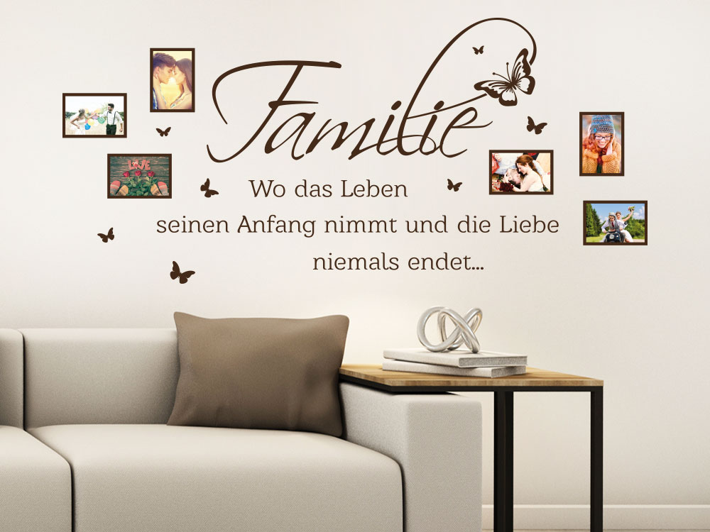 wandtattoo familie fotorahmen wo das leben klebeheld de. Black Bedroom Furniture Sets. Home Design Ideas