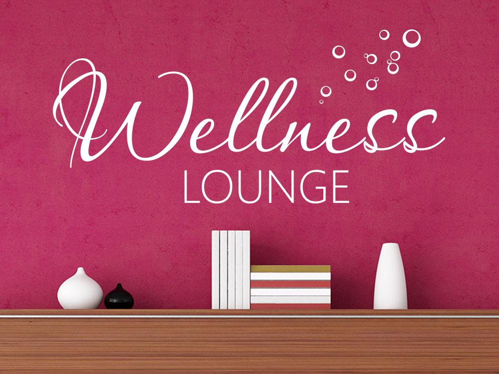 Wandtattoo Wellness Lounge