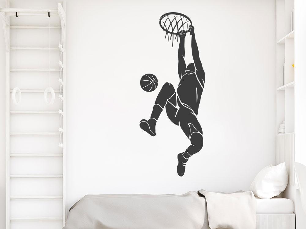 Wandtattoo Basketball Spieler beim Dunking