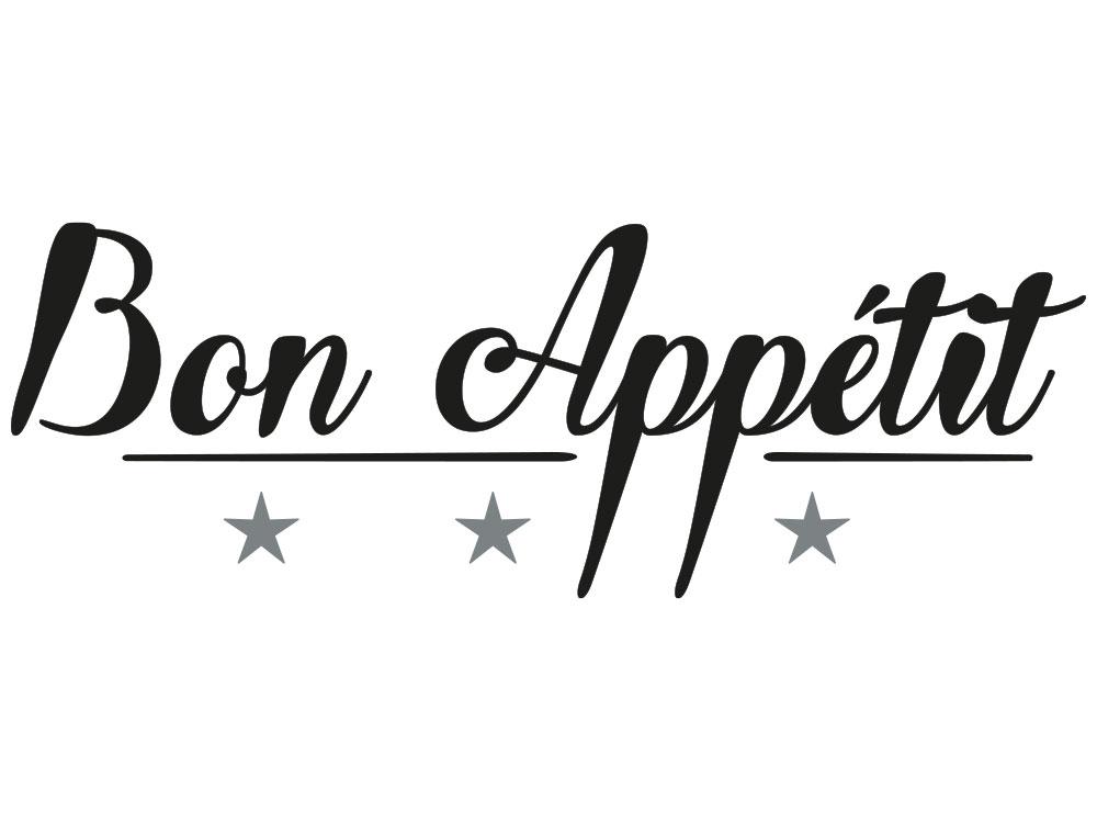 Wandtattoo Bon Appétit - Gesamtansicht des Wandtattoos