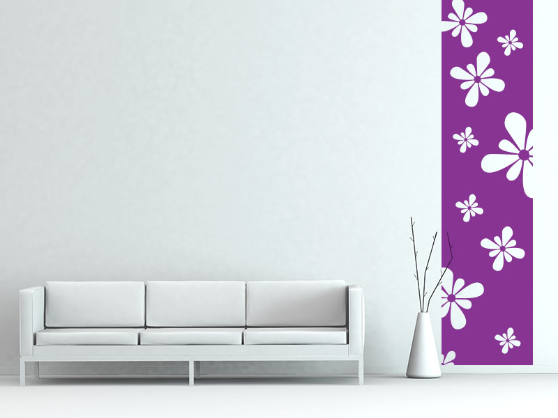 Wandtattoo Banner Flower Power