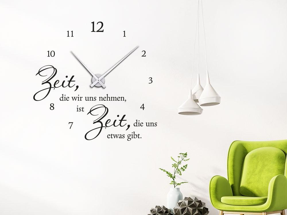 Wandtattoo Uhr Zeit nehmen: Zeit die wir uns nehmen von Ernst Ferstl