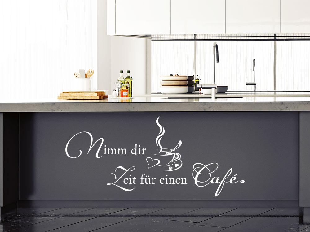 Wandtattoo Nimm dir Zeit für einen Café
