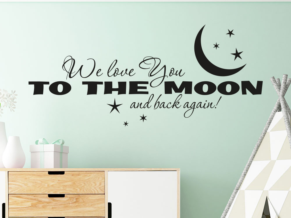 Wandtattoo We love you to the moon and back again