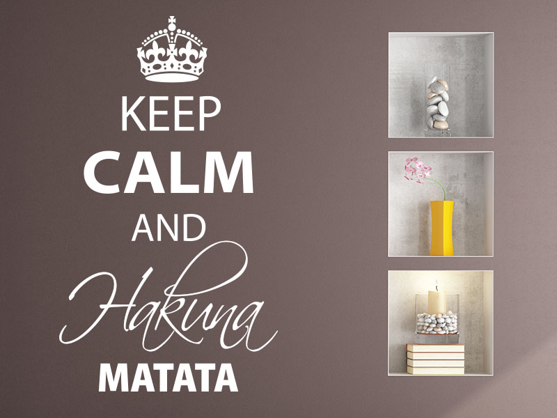 Wandtattoo Keep calm and Hakuna Matata