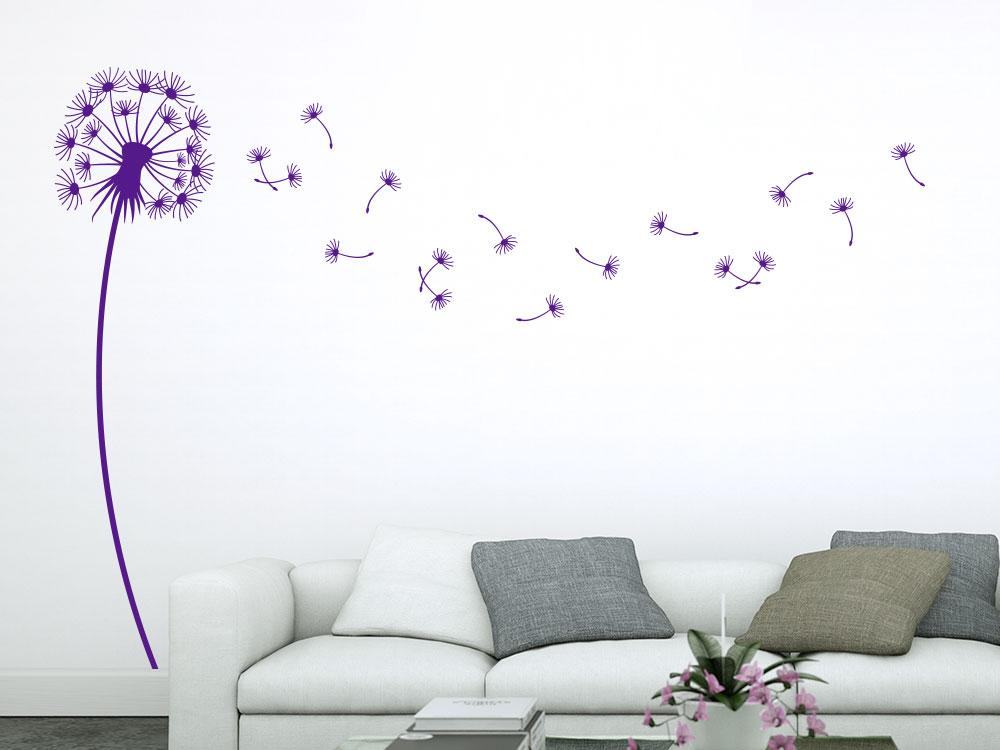Wandtattoo Dandelion in violett