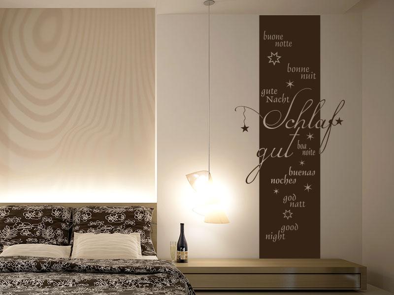 wandtattoo als wandbanner schlaf gut wandtattoos gute nacht. Black Bedroom Furniture Sets. Home Design Ideas