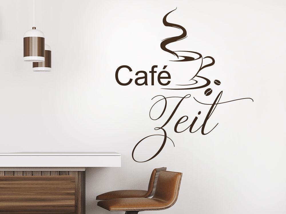 Wandtattoo Café Zeit im Bistro