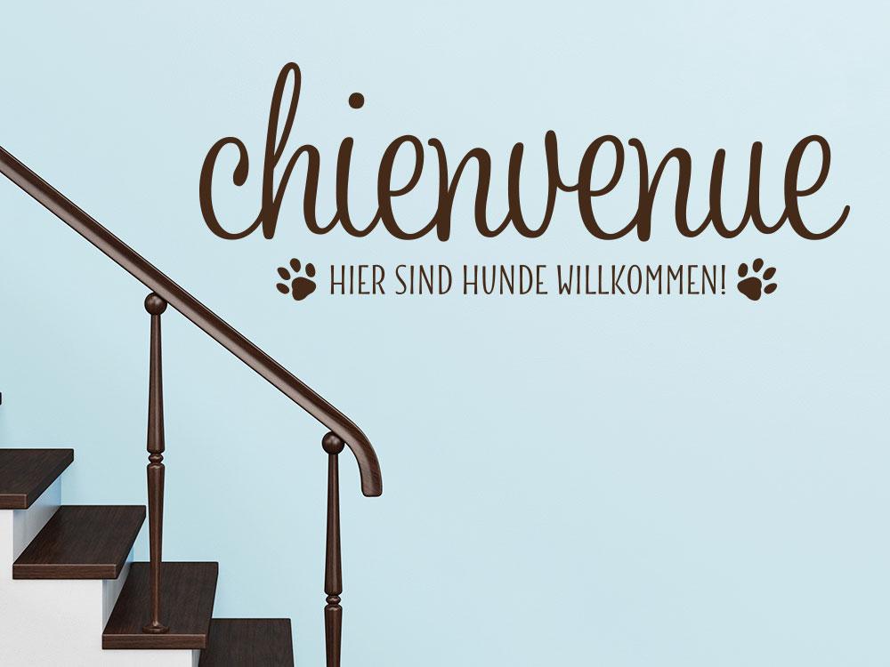 Wandtattoo Chienvenue
