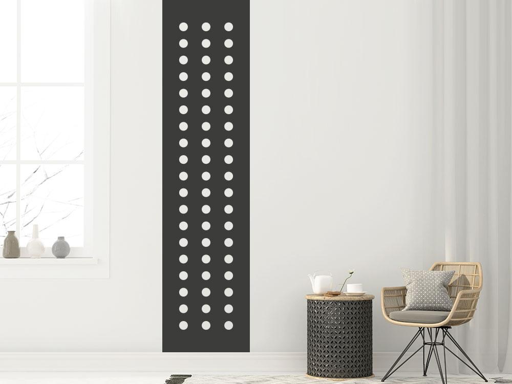 Wandtattoo Banner Kreise in dunkelgrau im Wohnzimmer