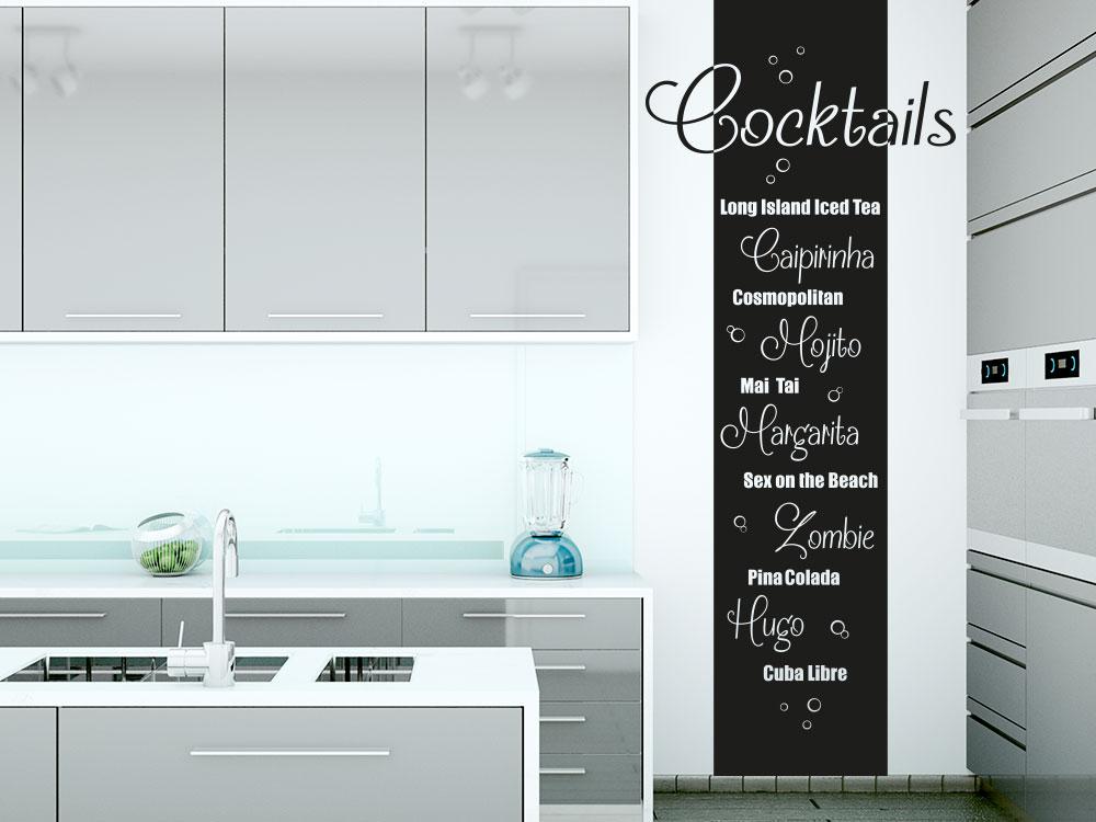 Wandtattoo Cocktails Wandanner in Küche