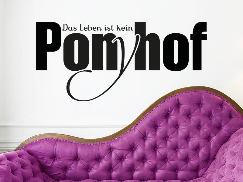 Lustiger Wandtattoo Spruch Das Leben ist kein Ponyhof