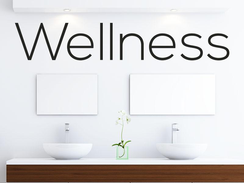 Wandtattoo Wellness Schriftzug