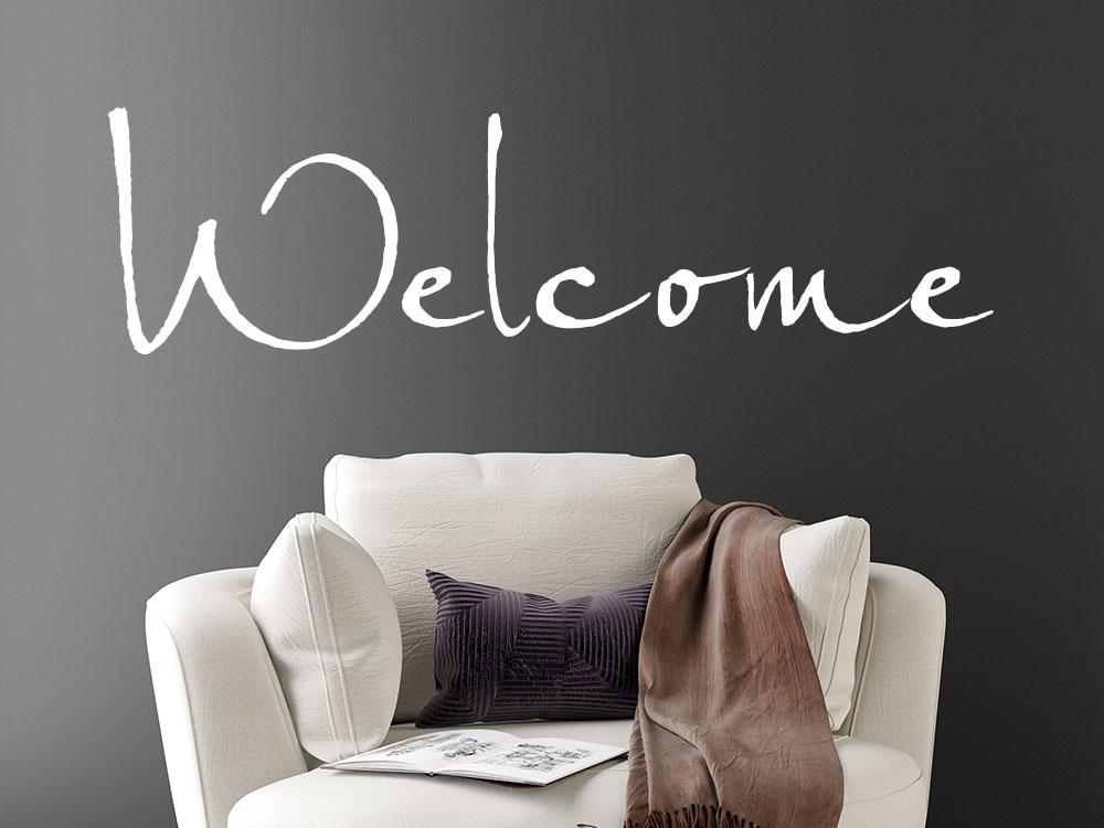 Welcome Wandtattoo im Eingamngsbereich
