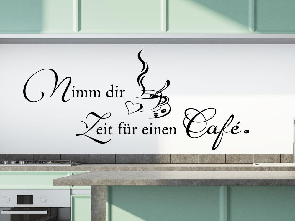 Wandtattoo Nimm dir Zeit für einen Kaffee in Küche