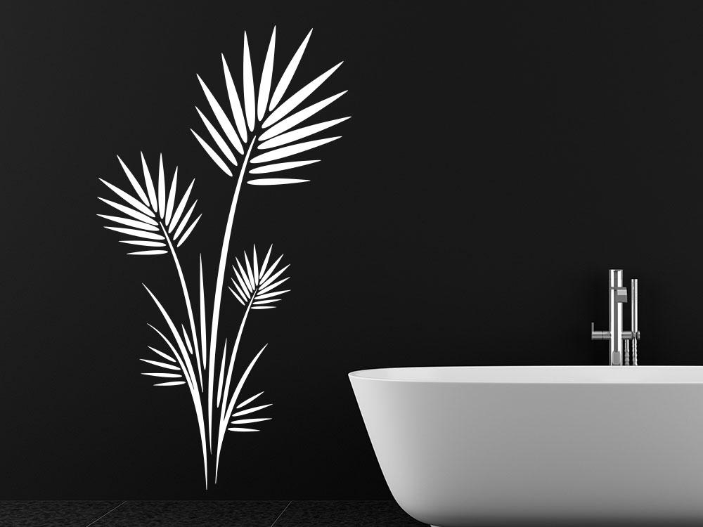 Wandtattoo Großer Blätter Strauch im Badezimmer
