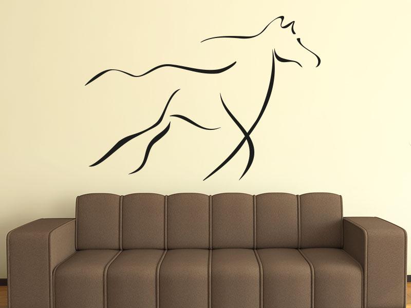 Wandtattoo Rennendes Pferd