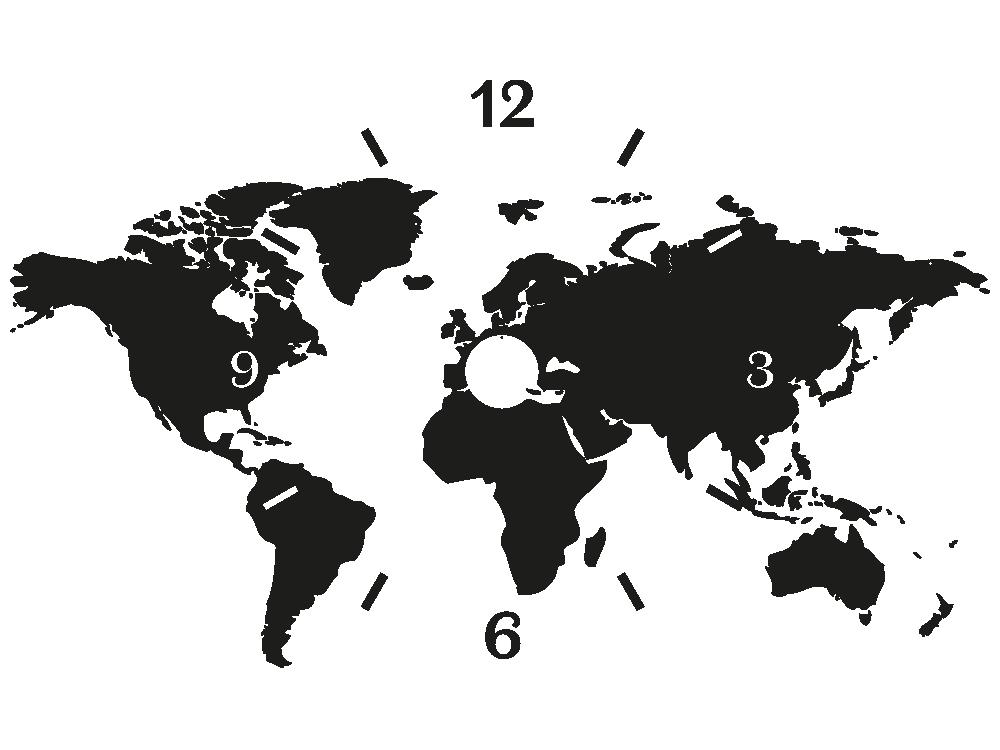 Wandtattoo Uhr Weltkarte Von Klebeheld De