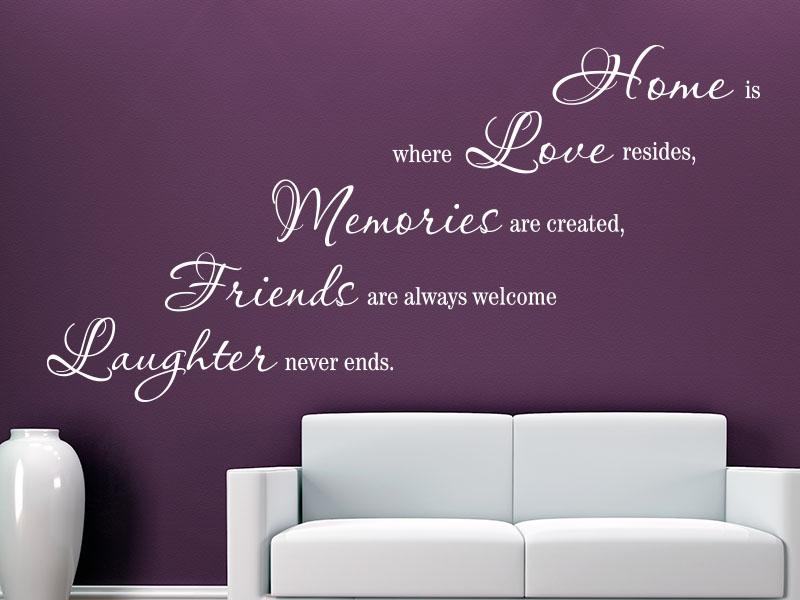 Wandtattoo Home is...