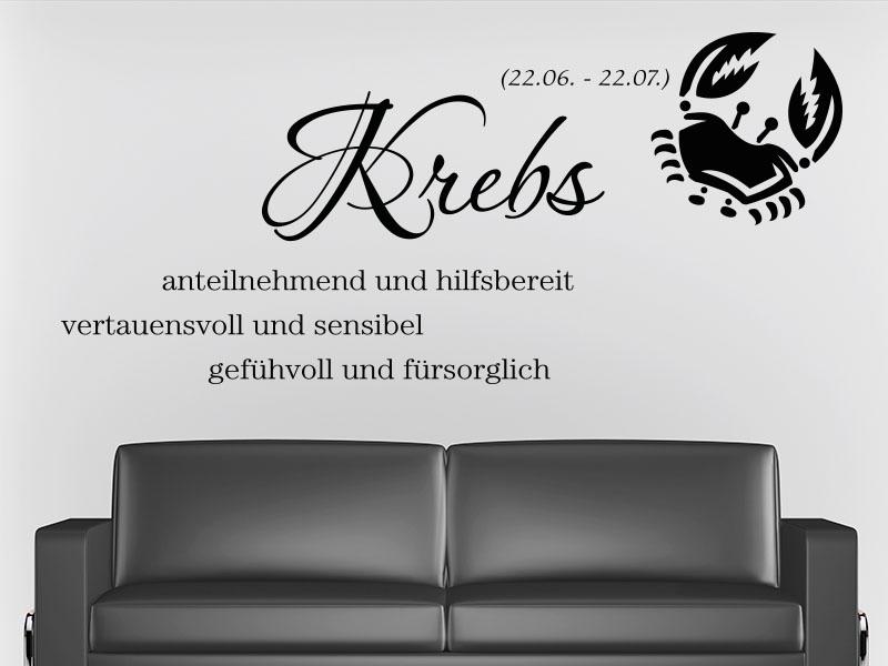 Wandtattoo Sternzeichen Krebs - No.2