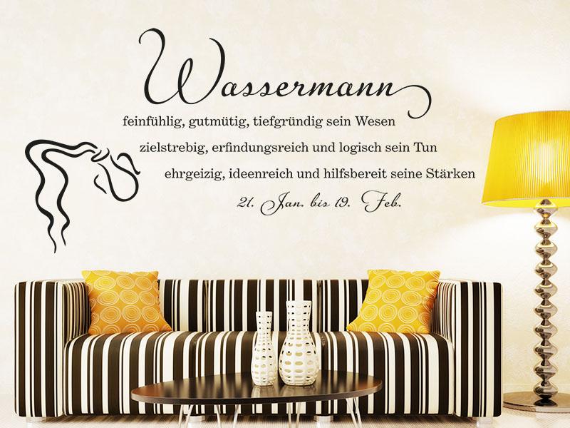 Wandtattoo Wassermann als Sternzeichen