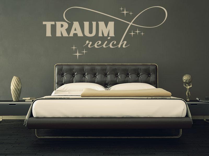Wandtattoo Traumreich als traumhaftes Schlafzimmer Wandtattoo