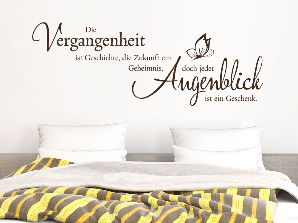 wandtattoo vergangenheit ist spruch klebeheld de. Black Bedroom Furniture Sets. Home Design Ideas