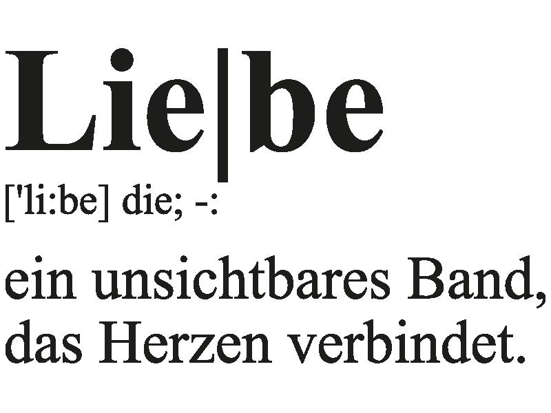 Wandtattoo Liebesdefinition 2 - Klebeheld.de