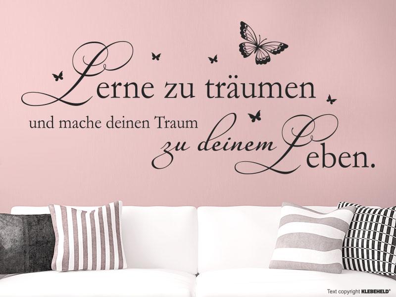 Wandtattoo - Lerne zu träumen und mache deinen Traum zu deinem Leben.