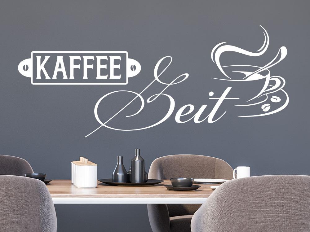 Wandtattoo Kaffeezeit mit Tasse Wohnküche