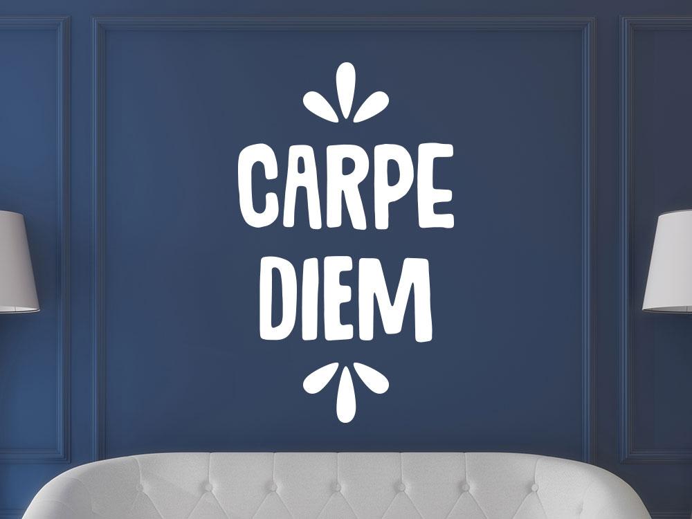 Moderne Wandtattoo Spruch mit Carpe Diem