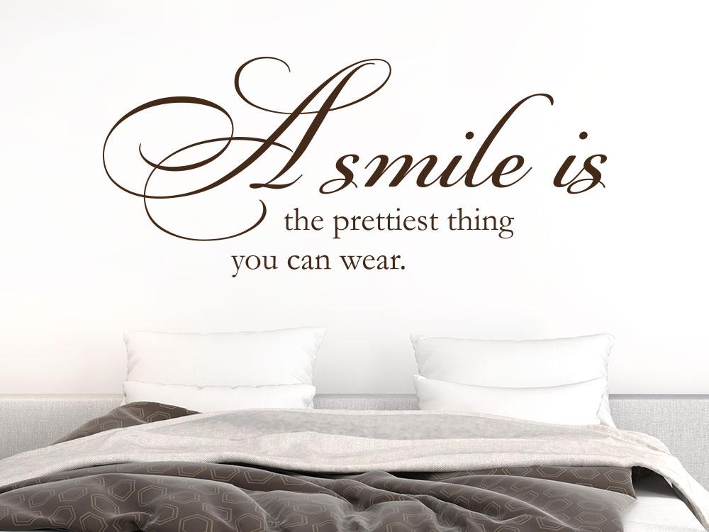 Wandtattoo A Smilie is… Spruch im Schlafzimmer