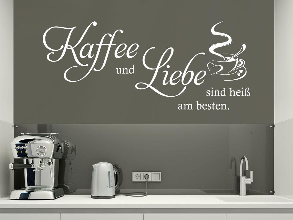 Wandtattoo Kaffee und Liebe Spruch in Küche