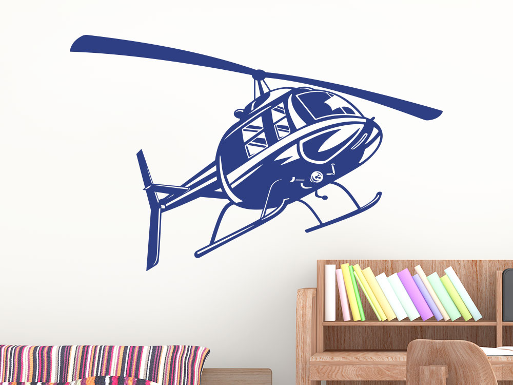 Helikopter Wandtattoo