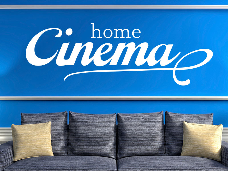 Wandtattoo Home Cinema retro
