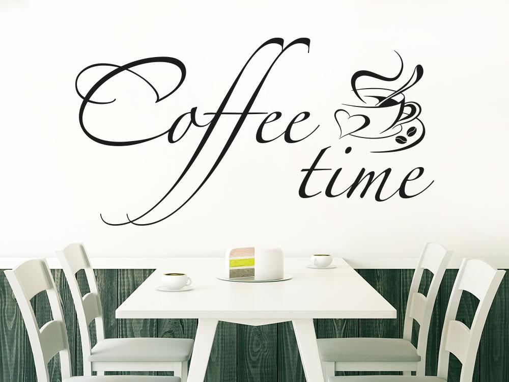 Wandtattoo Coffee time in einem Café