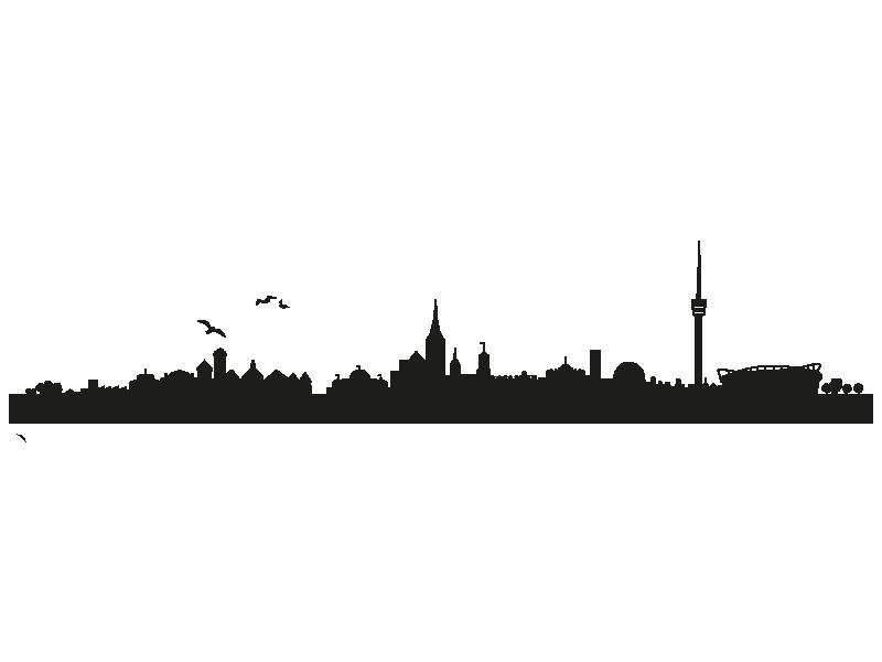 Wandtattoo Skyline Stuttgart Zweifarbig Klebeheld