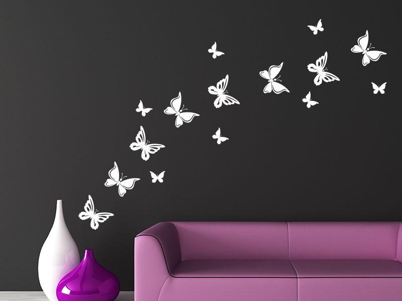 Wandtattoo Butterfly Set