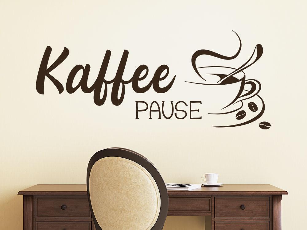 Wandtattoo Kaffee Pause